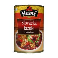 Fazole slov./klobása P400g HAM
