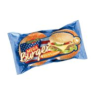Bulka Mega Burger se sezamem 4 ks 300g XX COMP