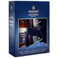 Ararat 10let 40% 0,7l + 2skla 2019