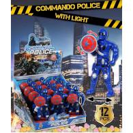 Commando police svítící s cukrovinkou 3g Trebor
